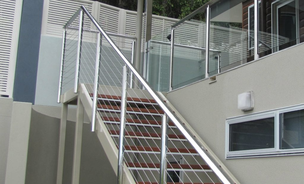 SS Horizontal Wire Balustrade