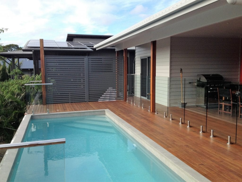 Glass Pool Fencing and Slat Screens